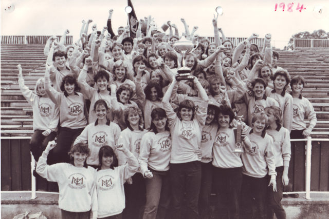 Athletics-team-1984-Peta-holding-trophy-check-with-Pam