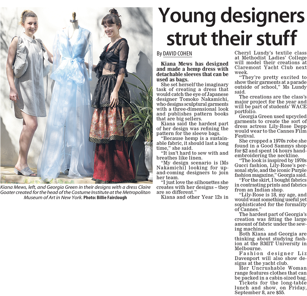 Young designers strut their stuff
