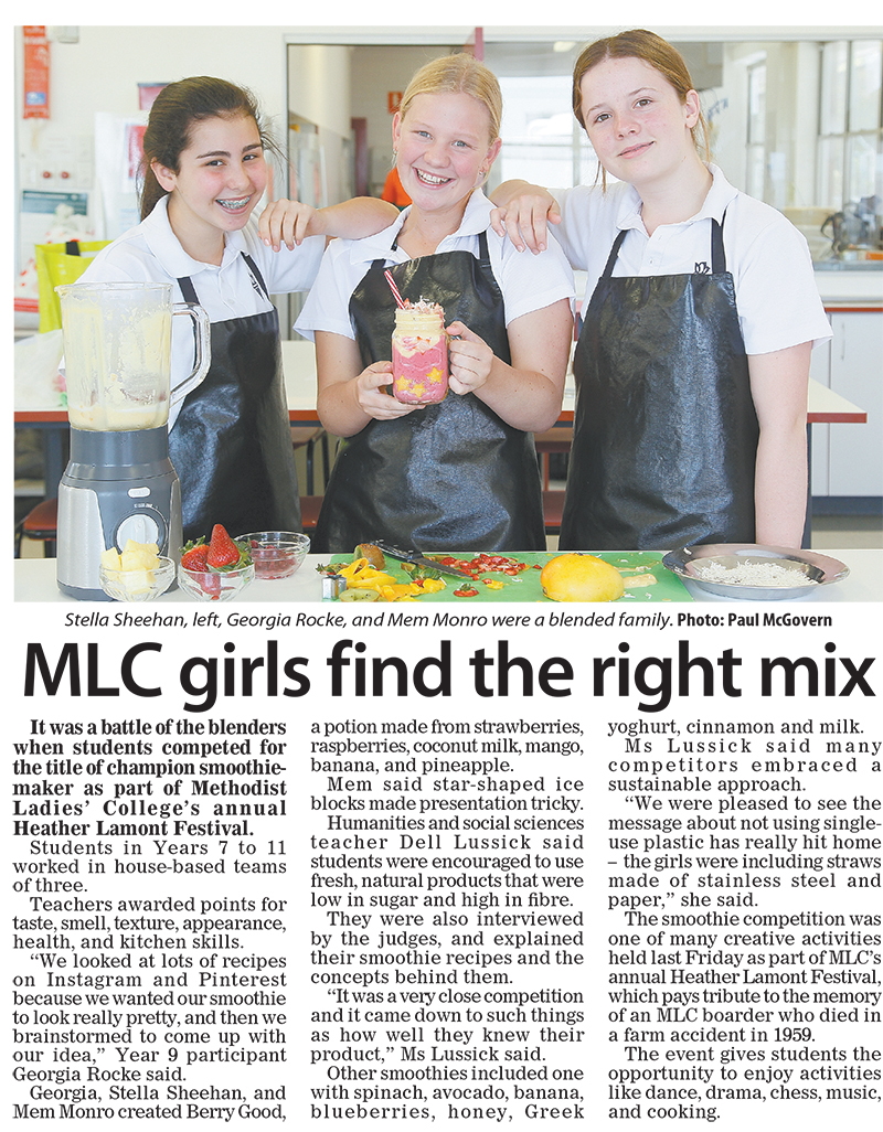 MLC girls find the right mix