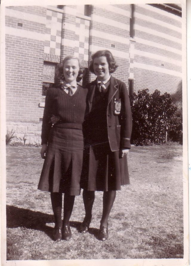 1944-Charm-Phillips-at-school-on-right