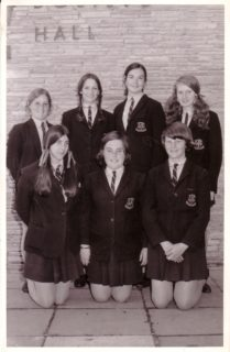 Wendy: back row, second from left in the 1971 Debating Team