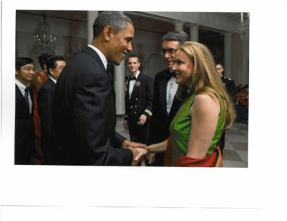 Annie with Barrack Obama