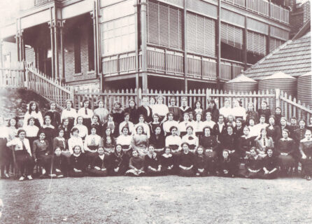Ethel, front row, third from left.