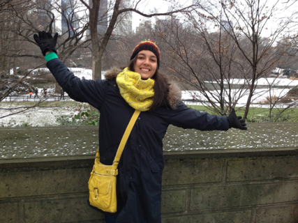 Georgie in New York on the day she recieved news of her Fogarty scholarship.